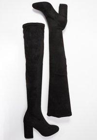 ONLY SHOES - ONLBETTE LONG SHAFT BOOTIE - Kozaki na obcasie - black - 3