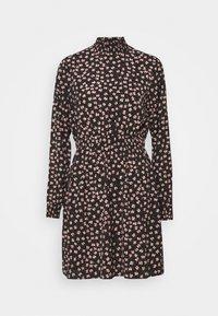 PCDALLAH DRESS - Shirt dress - black / light pink