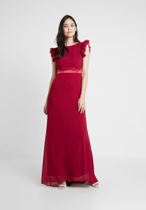 JUSTINA MAXI - Společenské šaty - burgundy