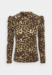 ONLY - ONLELCOS ANIMAL HIGH NECK - Long sleeved top - camel - 3