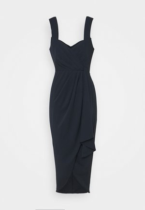 HADLEY WATERFALL MIDI DRESS - Robe de soirée - navy
