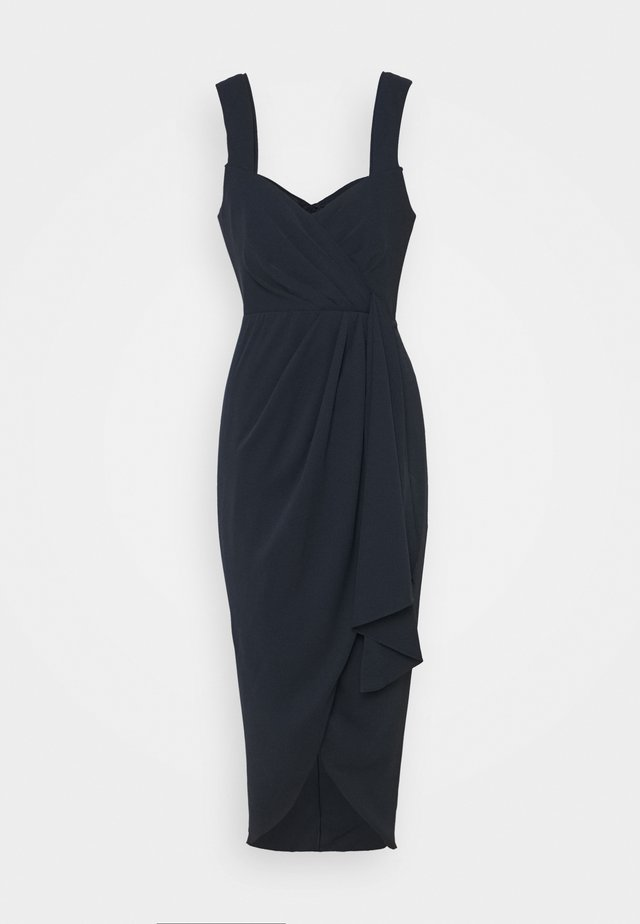 HADLEY WATERFALL MIDI DRESS - Vestido de cóctel - navy