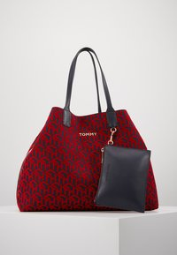 Tommy Hilfiger - ICONIC TOTE SET - Torba na zakupy - red - 0
