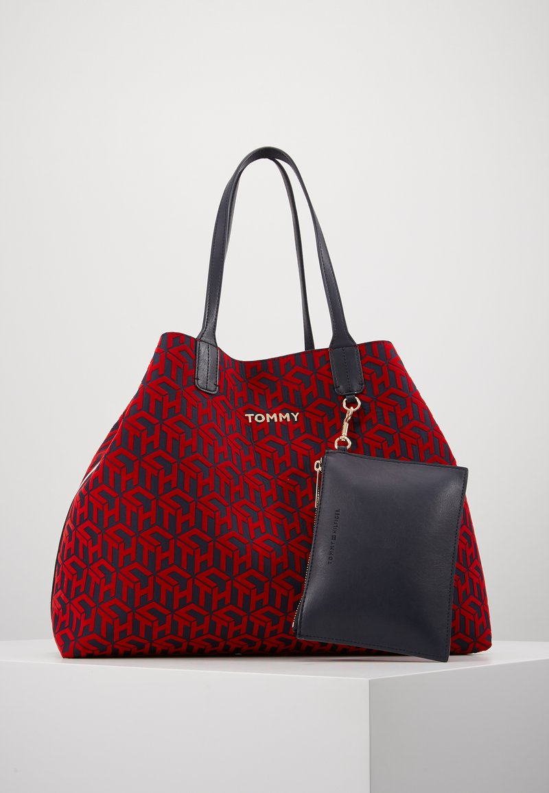 Tommy Hilfiger - ICONIC TOTE SET - Torba na zakupy - red