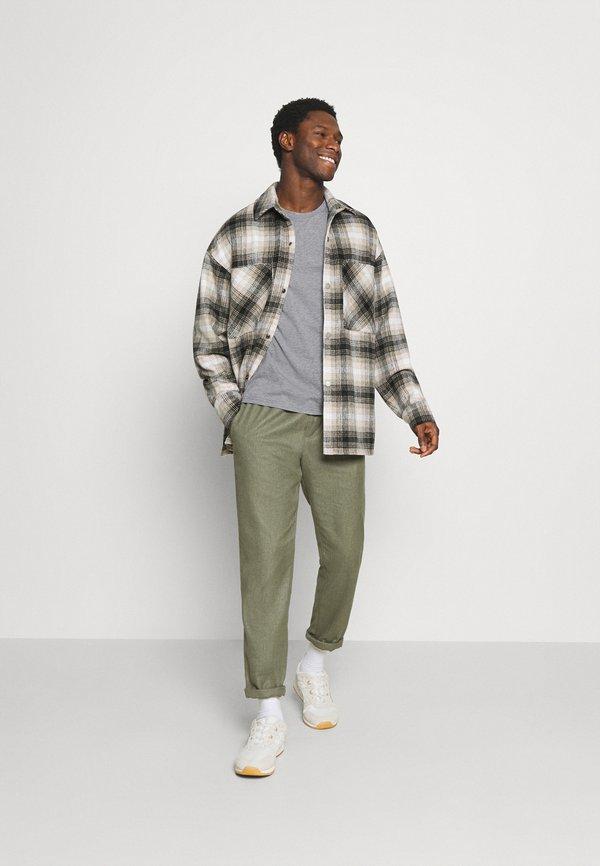 Napapijri SALIS - Bluzka z długim rękawem - motlled grey/szary melanż Odzież Męska PCSB
