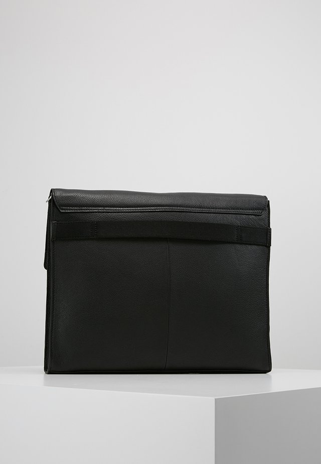 LEATHER - Sac bandoulière - black