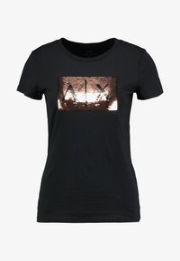 Armani Exchange - Print T-shirt - black/gold - 3