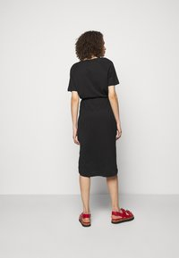 DKNY - LOGO DRAWSTRING - Jersey dress - black - 2