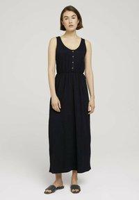 TOM TAILOR DENIM - Maxi dress - deep black - 0