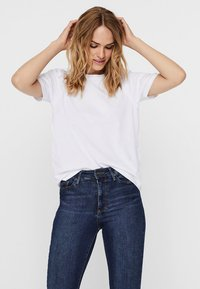 Noisy May - NMSHOUT - T-shirt - bas - bright white - 0