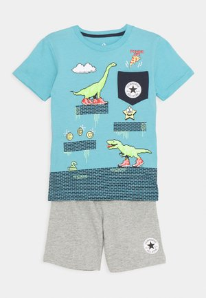 POCKET TEE SET - Pantalones deportivos - dark grey heather