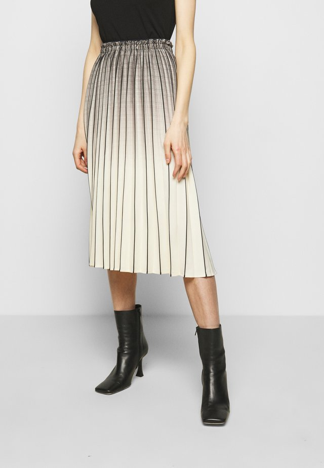 OMBRE PLAID PLEATED SKIRT - A-Linien-Rock - nude/black