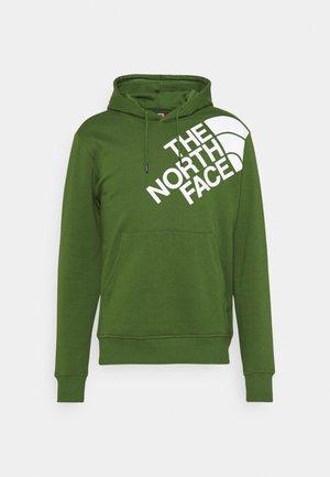 SHOULDER LOGO HOODIE - Sweatshirt - conifer green/white