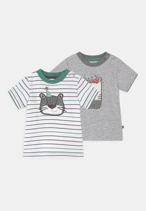 LEOPARDY 2 PACK - T-shirt print - grey/green