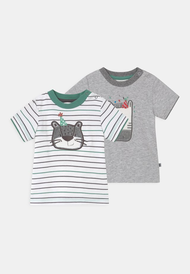 LEOPARDY 2 PACK - Printtipaita - grey/green