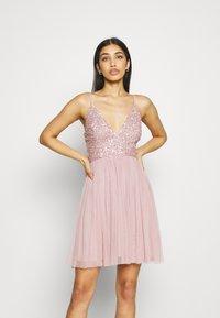 Lace & Beads - AVA SKATER - Sukienka koktajlowa - dusty pink - 0