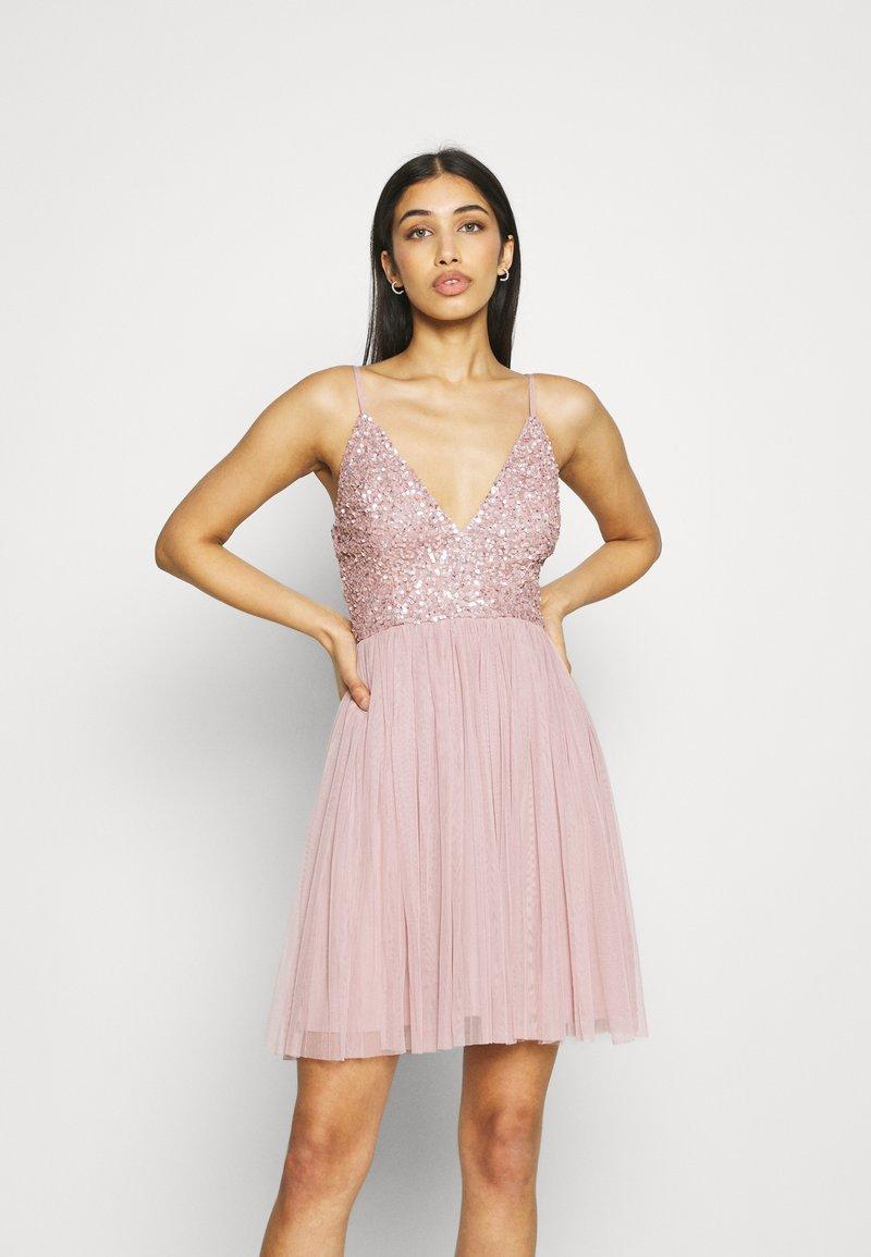 Lace & Beads - AVA SKATER - Sukienka koktajlowa - dusty pink