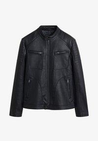Mango - JOSENO - Leather jacket - black - 5