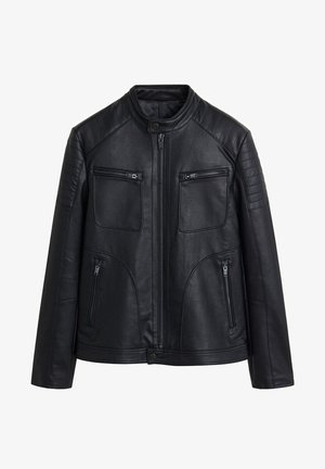 JOSENO - Leather jacket - black