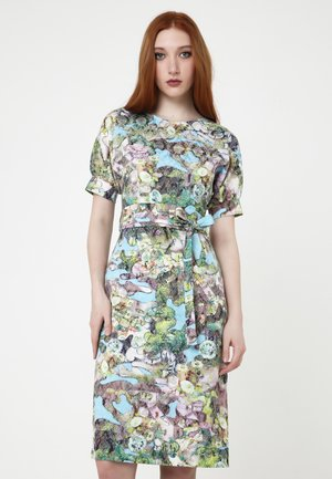 ANKARA - Pouzdrové šaty - hellblau, grün