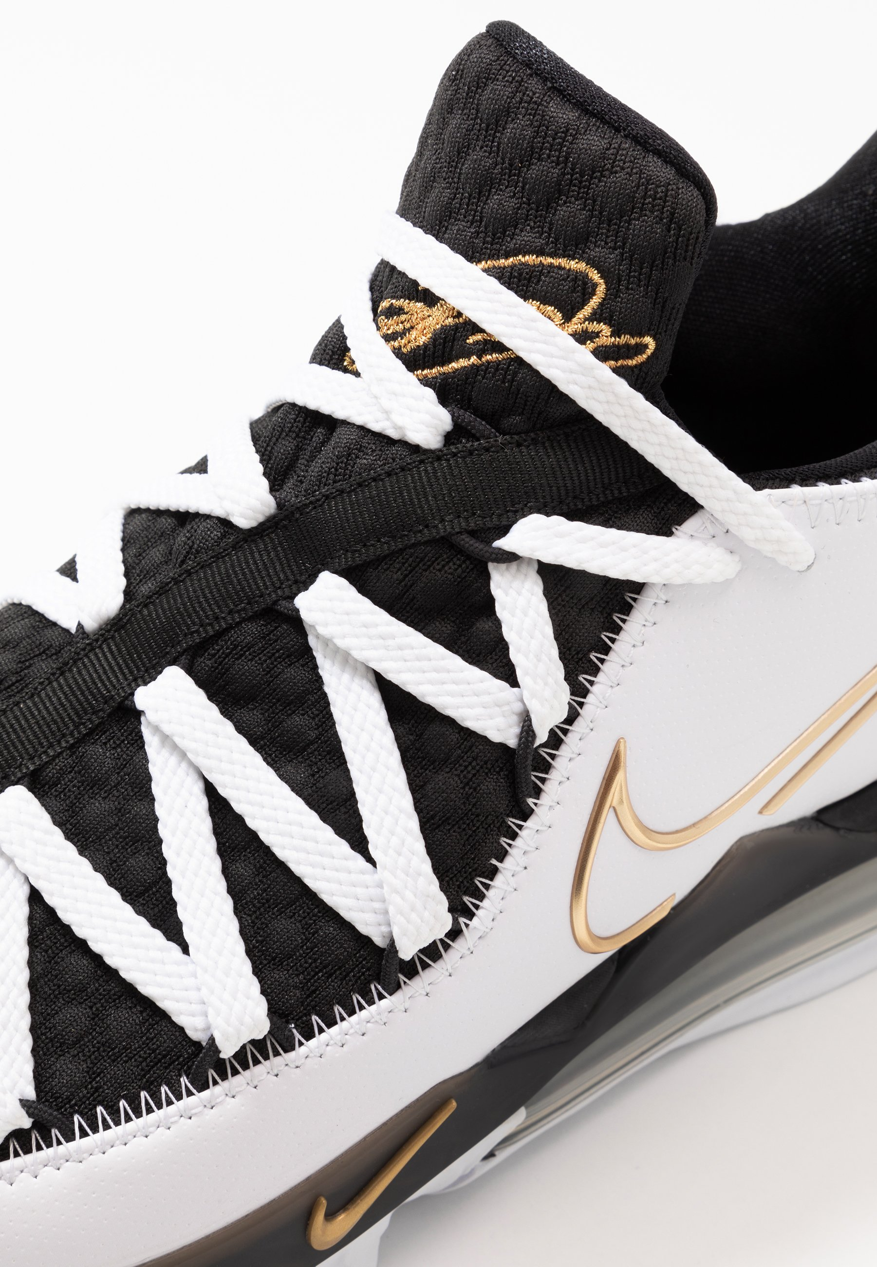 Nike Performance LEBRON XVII LOW - Basketballschuh - white/metallic gold/black/weiß - Herrenschuhe 8VtTe