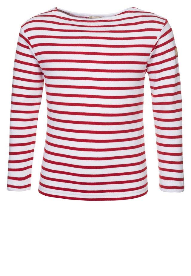 MARINIERE - Maglietta a manica lunga - blanc/rouge