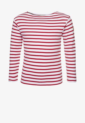 LOCTUDY MARINIÈRE - Long sleeved top - blanc/rouge