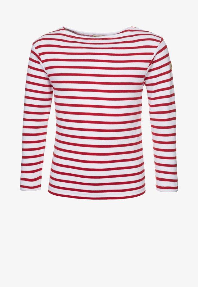 LOCTUDY MARINIÈRE - Långärmad tröja - blanc/rouge
