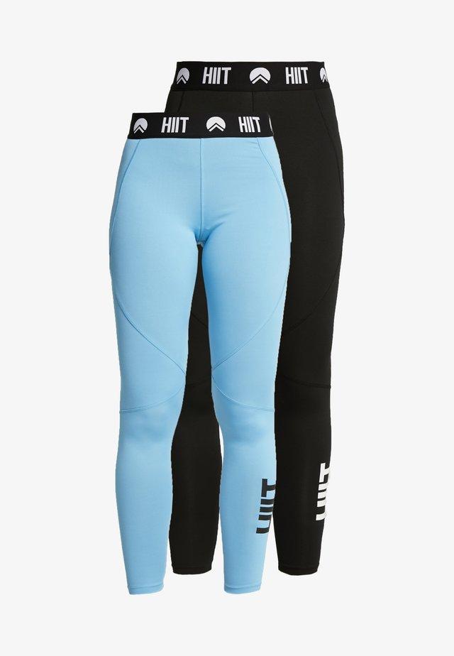 LEGGING 2 PACK - Legging - blue/black