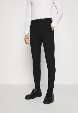 POLITAN ZIP PANTS - Pantaloni - black