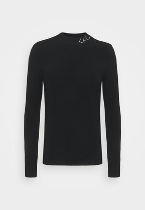LOGO MOCK NECK - Jumper - black