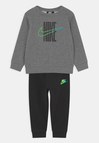 Nike Sportswear - RISE TAPING CREW SET UNISEX - Treningsdress - black - 0