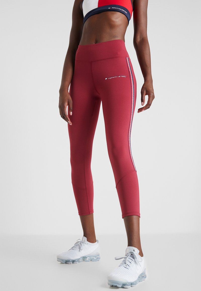 Tommy Sport - CLASSIC - Leggings - red