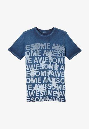 Print T-shirt - blue aop