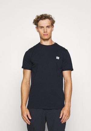 ZALANDO X LES DEUX PIECE - T-shirt basic - dark navy/off white-royal blue