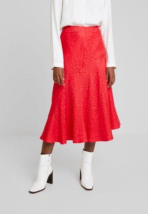 LEO - Áčková sukně - rubis