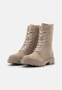 Tamaris - BOOTS - Lace-up ankle boots - beige - 1