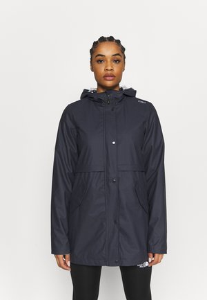 RAIN JACKET FIX HOOD - Outdoor jacket - antracite