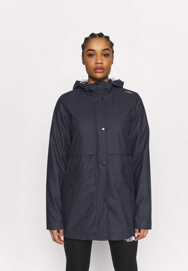RAIN JACKET FIX HOOD - Blouson - antracite