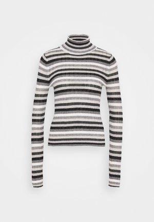 VARIEGATED TURTLENECK - Stickad tröja - gray