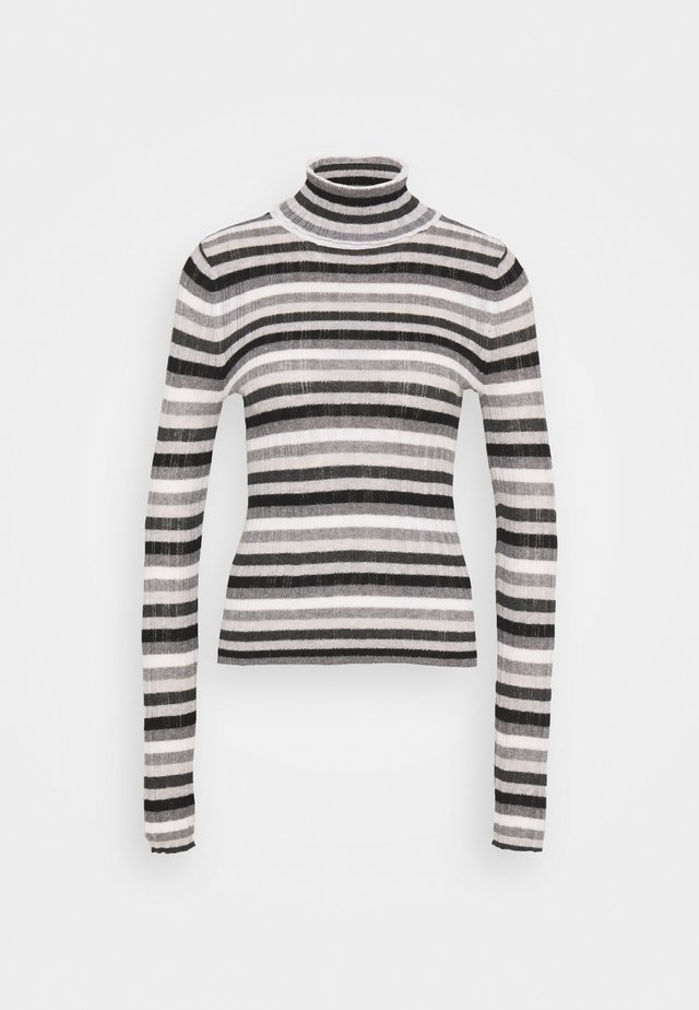 VARIEGATED TURTLENECK - Sweter - gray
