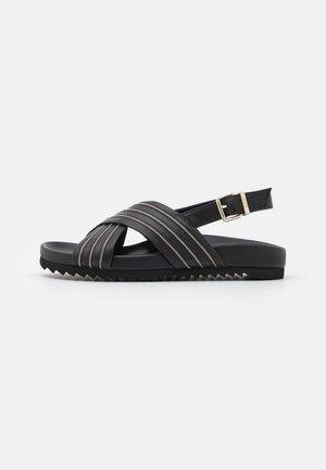SLIM FIT CHAIN CORNER - Sandals - black
