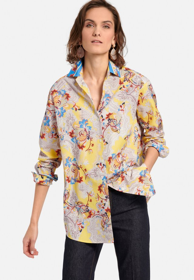 MIT ALLOVER-MUSTER - Overhemdblouse - gelb/multicolor
