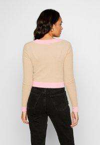 Glamorous - FLUFFY CROPPED JUMPER - Mikina na zip - light pink multi - 2