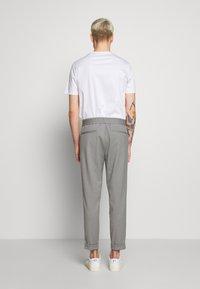 Filippa K - TERRY CROPPED PANTS - Trousers - mid grey melange - 2