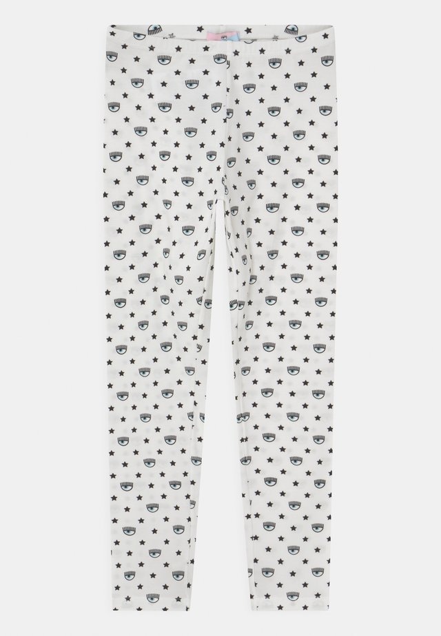 ALL OVER - Leggings - Trousers - panna/rosa