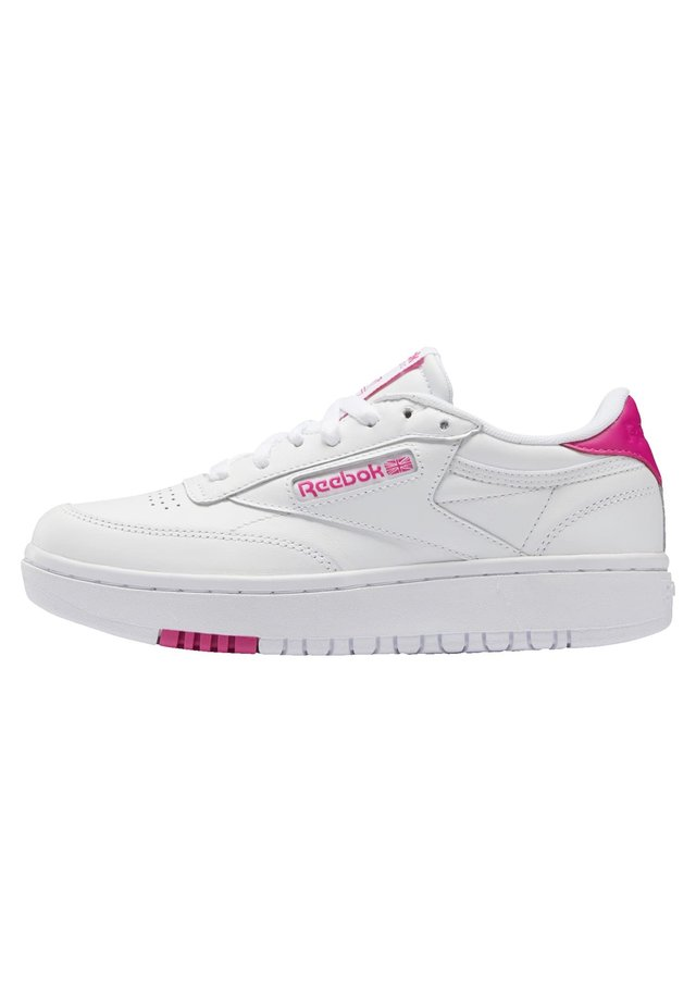 CLUB C DOUBLE - Sneakers laag - white/white/propnk