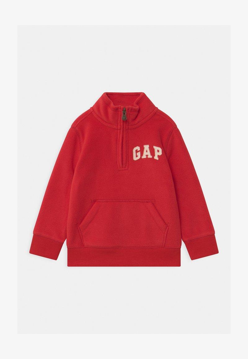 GAP - TODDLER BOY MOCK - Fleece trui - pure red