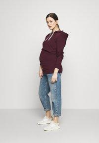 Anna Field MAMA - NURSING FUNCTION hoodie - Bluza - winetasting - 1