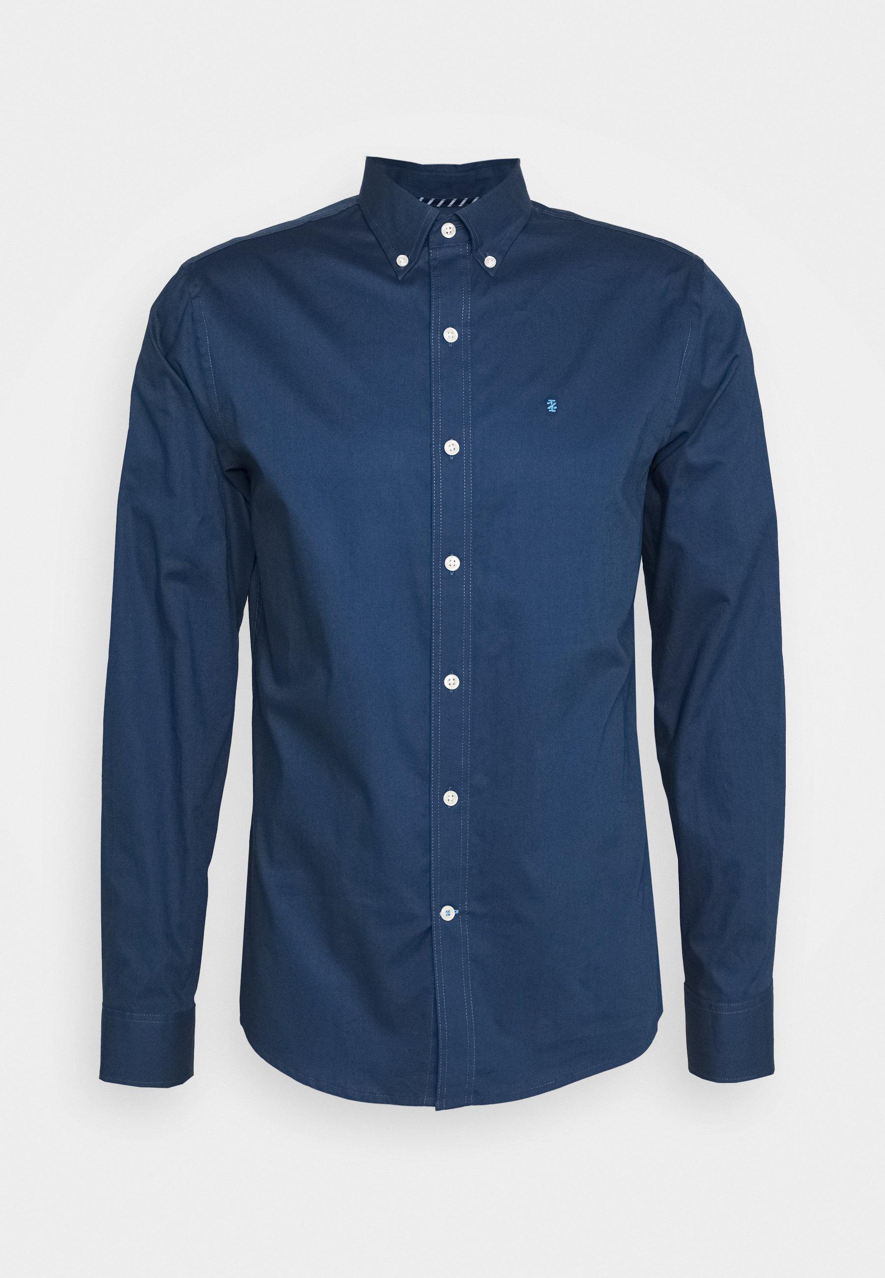 Izod Poplin Solid - Finskjorte Cadet/navy/mørkeblå
